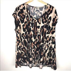 Show Me Your Mumu Leopard Top Size S